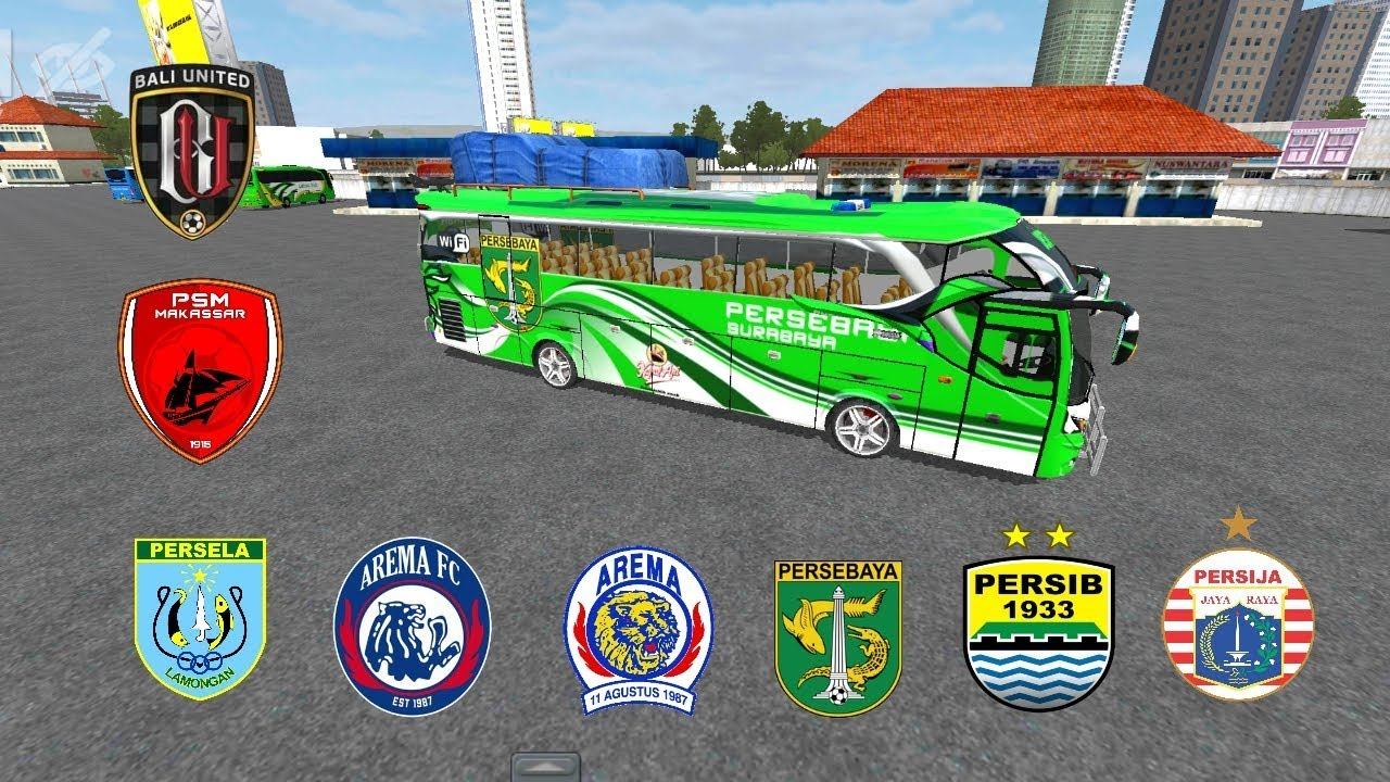Livery-Game-Bus-Simulator-Indonesia-Tema-Klub-Sepak-Bola-Liga-1-dan-Pariwisata