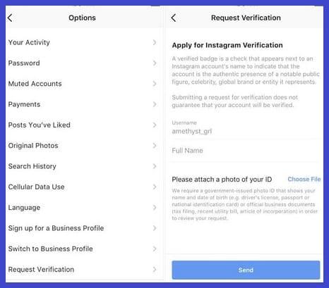 Selanjutnya-Anda-klik-lagi-pada-opsi-Account-dan-klik-lagi-pada-menu-Request-Verification